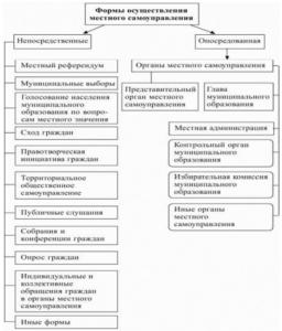 Формы осуществления местного самоуправления в РФ