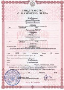 Свидетельство о расторжении брака с иностранцем