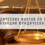 Понятие юридических фактов по гражданскому праву. Функции юридических фактов