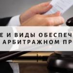 Принятие и виды обеспечительных мер в арбитражном процессе